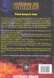 Fans Jusqu'A Tuer N.4 - 4ème de couverture - Format classique