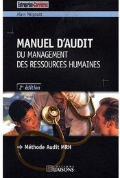 Manuel d'audit du management des ressources humaines (2e édition) - Couverture - Format classique