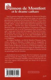 Simon de Montfort, le drame cathare - 4ème de couverture - Format classique