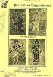 Rencontres Wagneriennes, Bulletin N° 88, Jan.-Fev. 1982 - Couverture - Format classique