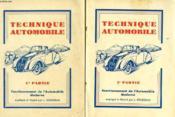 Technique Automobile, 2 Tomes - Couverture - Format classique