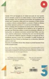 1913, chronique d'un monde disparu - 4ème de couverture - Format classique