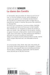 Les Bellanger t.2 ; la dame des genets - 4ème de couverture - Format classique