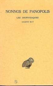 Dionysiaques t.2 ; ch 3-5 - Couverture - Format classique