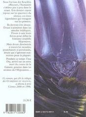 La Citadelle Hyponeros Guerriers Du Silence 3 - 4ème de couverture - Format classique