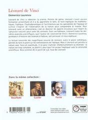 Leonard De Vinci. - 4ème de couverture - Format classique