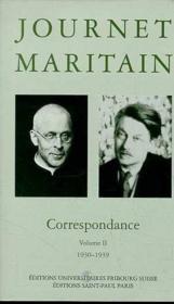 La Correspondance Du Cardinal Journet Et De Jacques Maritain, 1930-1939, Volume 2 - Couverture - Format classique