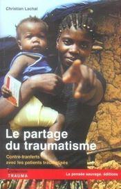 Le partage du traumatisme contre-transferts avec les patients traumatises - Intérieur - Format classique