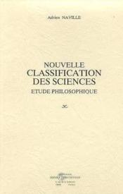 Nouvelle classification des sciences. et - Couverture - Format classique
