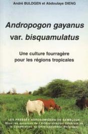 Andropogon Gayanus Var Bisquamaltus Une Culture Fourragere Pour Les Regions Tropicales - Couverture - Format classique