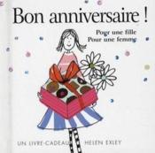Bon Anniversaire - Pour Une Fille Pour Une Femme - Couverture - Format classique