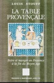 La table provencale - Couverture - Format classique