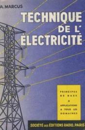 Technique de l'électricité - Couverture - Format classique