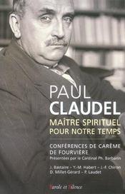 Paul claudel, maitre spirituel et theologien - Intérieur - Format classique
