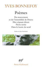 Poèmes - Couverture - Format classique