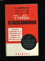 Tables De Calcul Numerique. - Couverture - Format classique