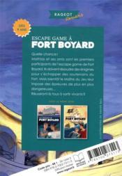 Escape game à Fort Boyard - 4ème de couverture - Format classique