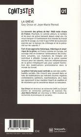 Contester T.1 ; La Grève - 4ème de couverture - Format classique