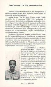 Les Comores .Un Etat En Construction - 4ème de couverture - Format classique