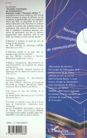 Nouvelles Technologies De Communication ; Nouveaux Usages ? Nouveaux Metiers - 4ème de couverture - Format classique