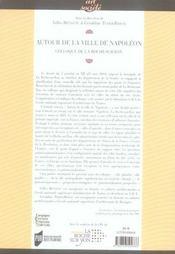 Autour de la ville de napoléon. colloque de la roche-sur-yon - 4ème de couverture - Format classique