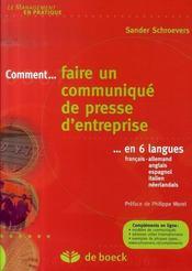 Comment... faire un communiqué de presse d'entreprise en 6 langues - Intérieur - Format classique