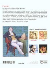 Cuvier. - 4ème de couverture - Format classique