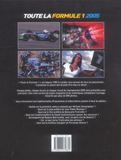 Toute la formule 1, 2005 (édition 2005) - 4ème de couverture - Format classique