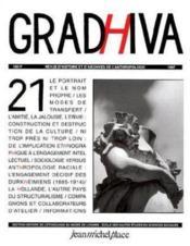 Cahier De Gradhiva N.21 - Couverture - Format classique
