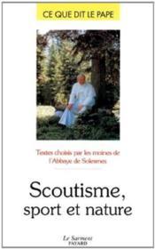 Scoutisme, sport et nature - Couverture - Format classique