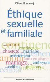 Ethique sexuelle et familiale - Couverture - Format classique