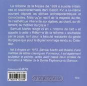 Esthetique De La Nouvelle Messe - 4ème de couverture - Format classique
