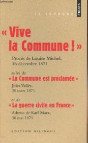Grands discours : la Commune - Couverture - Format classique