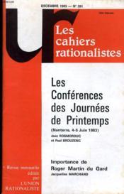 Les Cahiers Rationalistes N° 391 - Les Conferences Des Journees De Printemps - Couverture - Format classique