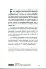 L'égalité, un fantasme français - 4ème de couverture - Format classique