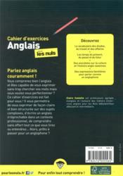 Cahier d'exercices anglais confirmé pour les nuls - 4ème de couverture - Format classique