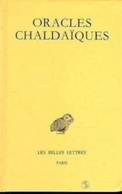 Oracles chaldaiques - Couverture - Format classique