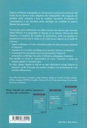 L'épreuve écrite d'histoire et géographie ; composantes majeure et mineure - 4ème de couverture - Format classique