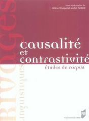 Causalité et contrastivité. études de corpus - Intérieur - Format classique