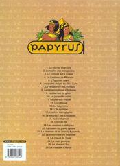 Papyrus t.26 ; le masque d'Horus - 4ème de couverture - Format classique