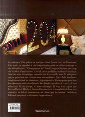 Hotel Fouquet's Barrière ; un rêve français - 4ème de couverture - Format classique