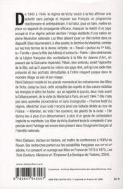 Les fêtes du maréchal ; propagande et imaginaire dans la France de Vichy - 4ème de couverture - Format classique