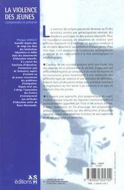 La Violence Des Jeunes Dans Les Quartiers Defavorises - 4ème de couverture - Format classique