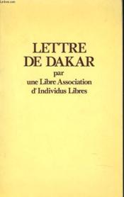 Lettre De Dakar - Couverture - Format classique
