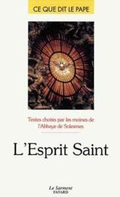 L'esprit saint - Couverture - Format classique