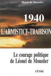 1940 l'armistice trahison - Couverture - Format classique