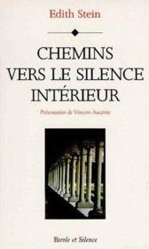 Chemins vers le silence intérieur - Couverture - Format classique