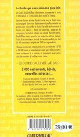 Guide Gault Millau France - 4ème de couverture - Format classique