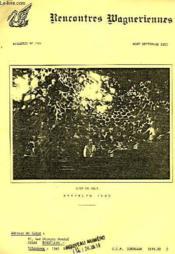 Rencontres Wagneriennes, Bulletin N° 103, Aout-Sept. 1983 - Couverture - Format classique