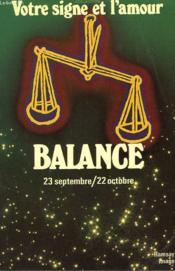 Balance. 23 Septembre / 22 Octobre. - Couverture - Format classique
